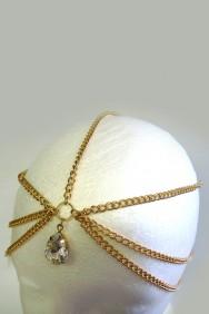 IHC-1012 Big diamond drop headchain