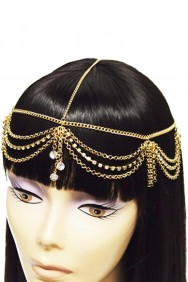 IHC1030-21 Three Crystal Dangling Headchain