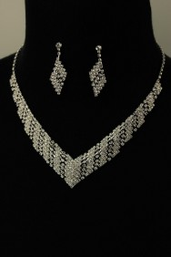 N10544-6 Anita rhinestone necklace set