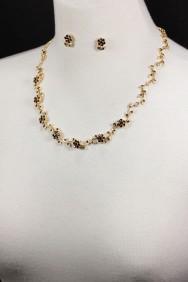 NM6 Limited flower line necklace set