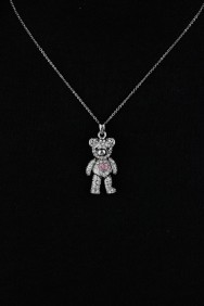 NPM11 Three Dimentional Bear Pendant Necklace