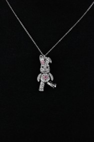 NPM12 Three Dimentional Rabbit Pendant Necklace