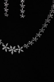NS23 Jasmin Flower Necklace Set