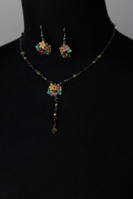 NS27 Limited Anna Style Hand-Painting Necklace Set
