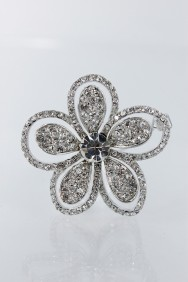 P39 double flower hair pin
