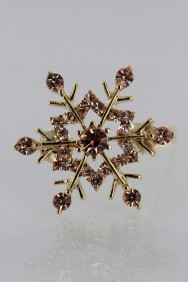 PM31 Snow Flake Magnetic Barrette (set of 6)