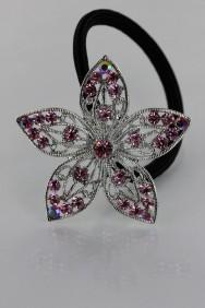 PN35 Five leaf flower ponytail holder