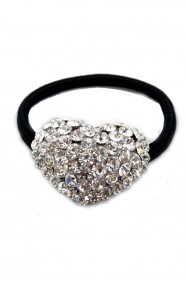 PN8-1.5 HEART PONYTAIL ACCESSORY