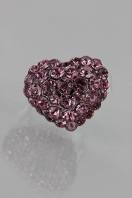 RMA11 Small Heart Adjustable Ring
