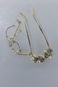 S73 Large heart dangling hair stick