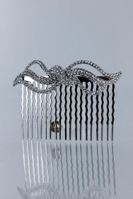 CMS102 Botique party actue ribbon side comb