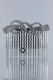 CMS103 Square queen hera bridal side comb