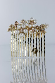 CMS104 Flower pearl side hair comb