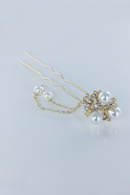 S6 Flower pearl hair stick