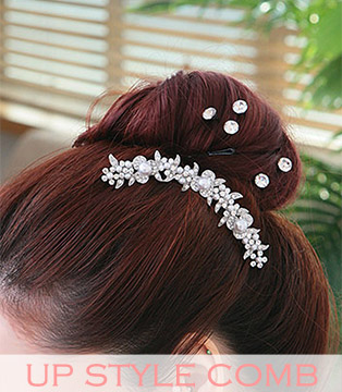 wedding hair up style comb